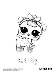 Lol Surprise Doll Coloring Pages Bb Pup Lol Surprise Doll Coloring