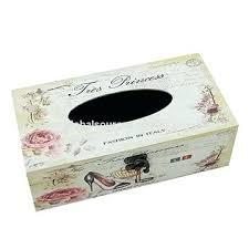 wooden tissue box holder china diy wall mounted