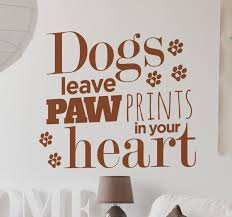 dog paw print text sticker