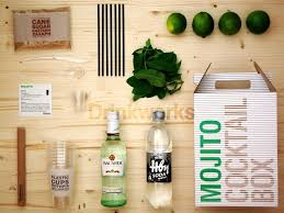 beautiful and simple graphic design and package design for this mojito making kit drink kit lojito