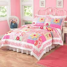 sweet teenage girl bedroom design with colorful cute bedspreads and wrought  iron headboard plus cozy lowes