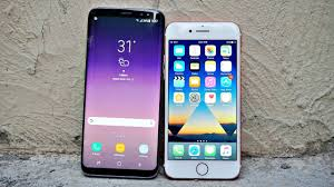iphone or samsung. samsung galaxy s8 vs iphone 7 - drop test iphone or x