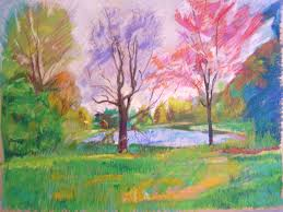 landscape color drawing with oil pastels gallery