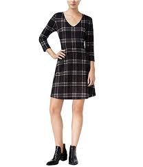 Maison Jules Size Chart Maison Jules Womens Windowpane Fit Flare Dress At Amazon