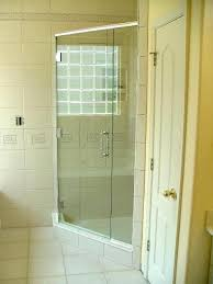 custom 3 8 heavy glass hinged off panel with special chrome handle shower door installation frameless