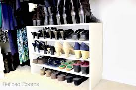 stackable shoe organizers for master closet organization refined rooms