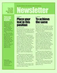 Example Of A News Letter Example Of A News Letter Construction Contract Template Word 8