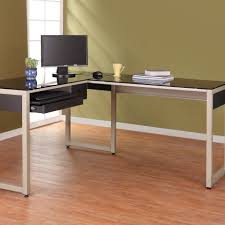 full size of interior metal and glass computer desk which equipped with pull out keyboard large size of interior metal and glass computer desk which