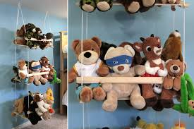 Stuffed Animal Display Stand DIY hanging toy storage to organize the stuffed animals It's 1