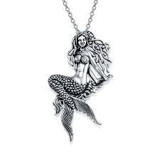 bling jewelry 925 silver crystal celtic sea mermaid pendant dmaod8f