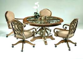 kitchen chair with rollers dining room chairs casters regarding on plan interior ca