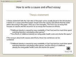 examples of cause and effect essay co examples
