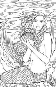 Small Picture Realistic mermaid coloring pages download and print for free