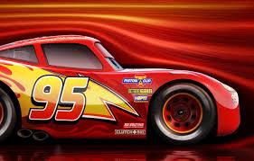 Wallpaper car, red, Disney, Cars, race ...