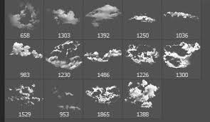 14 High Resolution Cloud Brushes