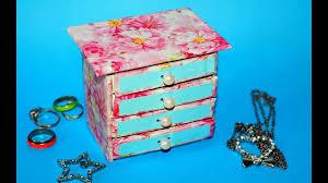 hand made matchbox craft easy jewelry box making tutorial julia diy