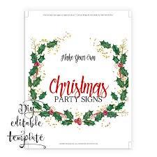 Christmas Signs 8x10 Diy Printable Sign Template For Word Make Your Own
