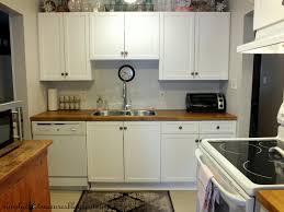 To Redo Kitchen Cabinets Simply Chic Treasures 1980s Melamine Cupboard Update