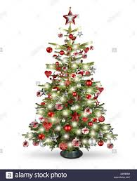 Red And White Led Christmas Tree Lights Real Natural Nordmann Xmas Christmas Tree With Red Silver