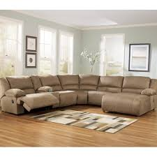 ashley hogan sectional with two recliners and right arm facing chaise