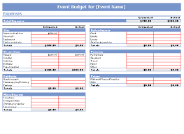 Budgeting For An Event Excel Templates For Budgeting Excel Xlsx Templates