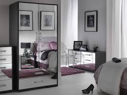 glass bedroom furniture black mirrored bed is also a kind electric cupboard dresser pink carpet stylish