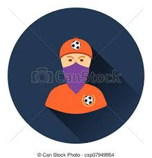 football fan clipart. football fan with covered face by scarf icon - csp37949954 clipart