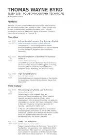 Ideas Of Resume Sleep Technician Lab Assistant Resume