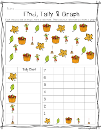 Fall Find Tally Graph Freebie First Grade Math Math