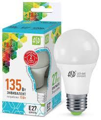<b>Лампа</b> светодиодная <b>ASD LED</b>-<b>Standard</b> 4000K, <b>E27</b>, <b>A60</b>, 15Вт ...