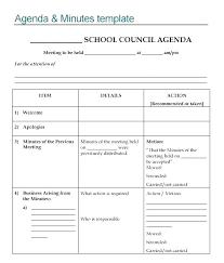 Elementary School Planner Template Free Agenda Full Size Day