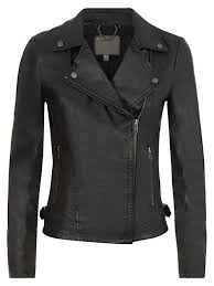 muubaa rosario black leather biker jacket