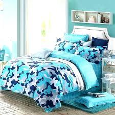 blue camouflage bedding