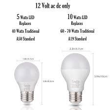 60 Watt 12 Volt Light Bulb 12 Volt Led Bulbs E26 Base 12vdc 12v Light Bulbs Rv Lighting Off Grid Cabin Low Voltage Lights 12 Volt Daylight White 6 Pack