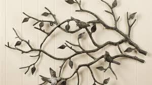 indoor outdoor cast iron bird branch wall art