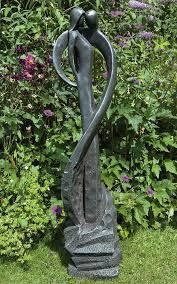 loving kiss modern garden statue large contemporary sculpture