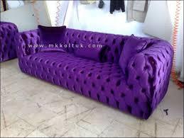 purple velvet chesterfield sofa