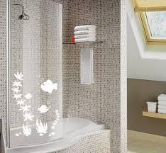 fish shower screen stickers bathroom