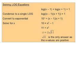 4 solving log equations