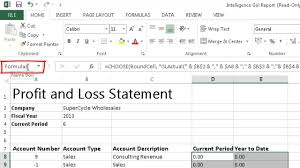 Profit And Lost Statement Sage One Accounting Formerly Sage Pastel Online Intelligence Go 12