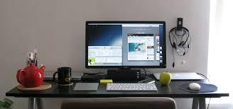 imac furniture. Furniture. Rectangle Black Imac Computer Desk On The Floor . Adorable Look Of Furniture