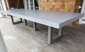 custom concrete kitchen u0026 dining tables trueform concrete outdoor dining table i74