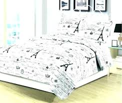 paris themed quilt set doona cover bedding full black and white queen king or 3 piece paris themed twin quilt
