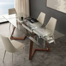 Italian Extendable Dining Table Chair Design Extendable Dining Glass Tables Store