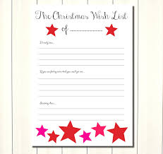 Christmas Wish List Printable Template Christmas List Template Printable 22