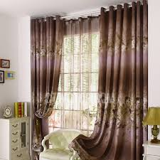 brown curtains for bedroom. Exellent Brown Functional Blackout Bedroom Curtain In Brown And Lilac Color Chenille Fabric Inside Curtains For R