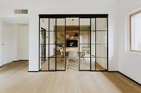 frameless glass partitions elegant doors