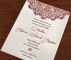 indian letterpress wedding card malika invitations by ajalon South Indian Wedding Cards elegant indian floral mandala on raspberry & orange letterpress wedding invitation south indian wedding cards