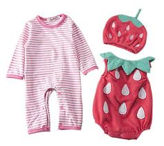 UNIQUEONE Toddler Baby Halloween <b>Cute Strawberry</b> Print Fancy ...