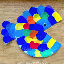 paper plate tissue paper fish craft crafty morning